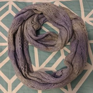 Gray and Purple Circle Scarf